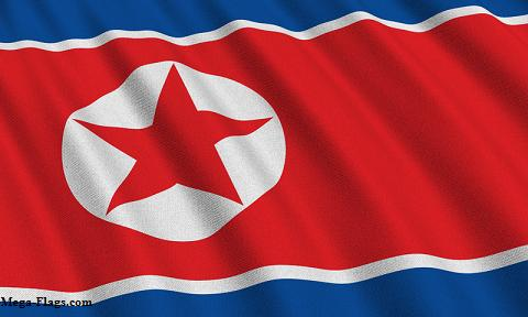 north korean flag. The North Korean flag contains