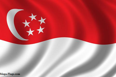 Singapore National Flag Picture on Singapore Photos  Click Here
